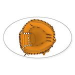 catcher's mitt Sticker (Oval 10 pk)
