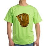 baseball glove Green T-Shirt