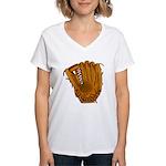 baseball glove Women's V-Neck T-Shirt