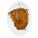 baseball glove Ornament (Oval)