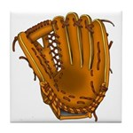 baseball glove Tile Coaster