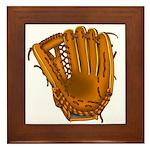 baseball glove Framed Tile