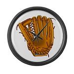 baseball glove Large Wall Clock