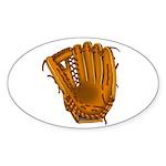 baseball glove Sticker (Oval 10 pk)