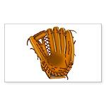 baseball glove Sticker (Rectangle 10 pk)