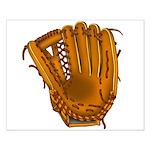 baseball glove Small Poster