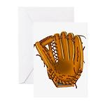 baseball glove Greeting Cards (Pk of 10)