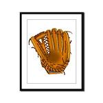 baseball glove Framed Panel Print