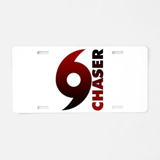Hurricane Chaser Aluminum License Plate