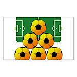 soccer Sticker (Rectangle 10 pk)
