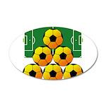 soccer 22x14 Oval Wall Peel