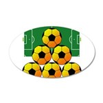 soccer 38.5 x 24.5 Oval Wall Peel