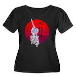 kendo Women's Plus Size Scoop Neck Dark T-Shirt