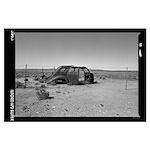 Car in Desert 010 Poster