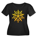 manchukuo Women's Plus Size Scoop Neck Dark T-Shir