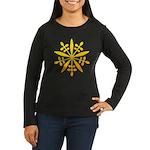 manchukuo Women's Long Sleeve Dark T-Shirt