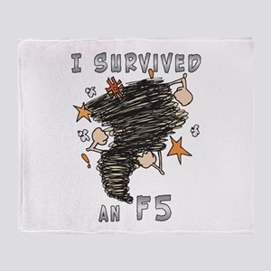 Survived F5 Throw Blanket