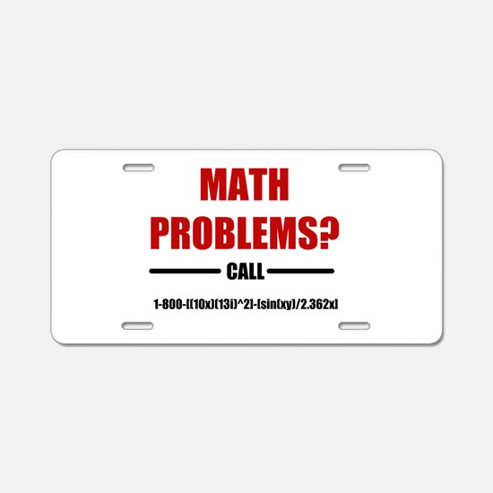 Math Problems Aluminum License Plate