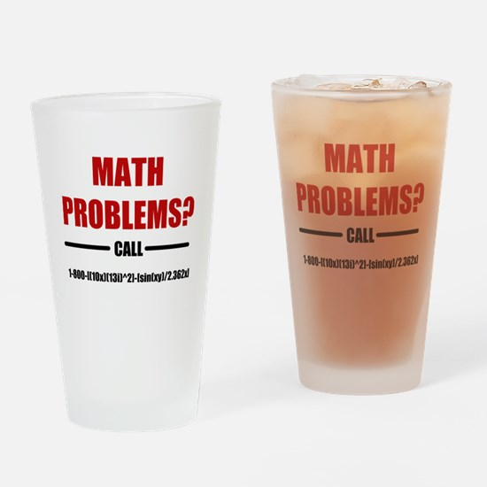 Math Problems Drinking Glass