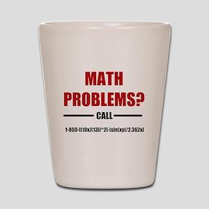 Math Problems Shot Glass
