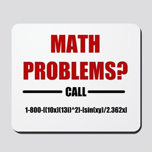 Math Problems Mousepad