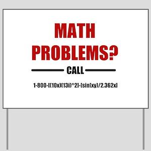 Math Problems Yard Sign