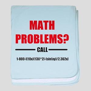 Math Problems baby blanket