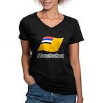 Manchukuo 2 Women's V-Neck Dark T-Shirt