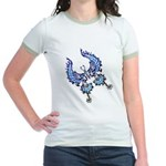 tribal butterfly Jr. Ringer T-Shirt