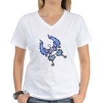 tribal butterfly Women's V-Neck T-Shirt