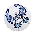 tribal butterfly Ornament (Round)