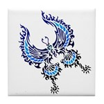 tribal butterfly Tile Coaster