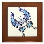 tribal butterfly Framed Tile