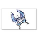tribal butterfly Sticker (Rectangle 10 pk)