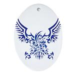 tribal eagle Ornament (Oval)