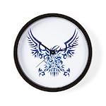 tribal eagle Wall Clock