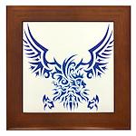 tribal eagle Framed Tile
