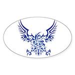 tribal eagle Sticker (Oval 50 pk)