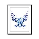 tribal eagle Framed Panel Print