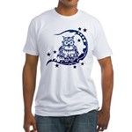 tribal owl Fitted T-Shirt