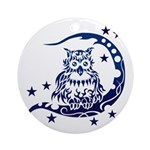 tribal owl Ornament (Round)