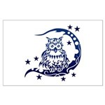 tribal owl Large Poster