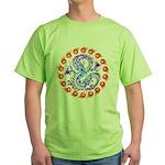 tribal ryuu Green T-Shirt