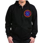 tribal ryuu Zip Hoodie (dark)