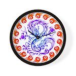 tribal ryuu Wall Clock