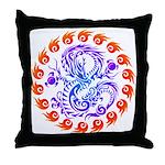 tribal ryuu Throw Pillow