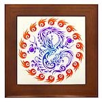 tribal ryuu Framed Tile
