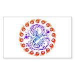 tribal ryuu Sticker (Rectangle 10 pk)