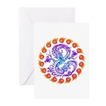 tribal ryuu Greeting Cards (Pk of 20)