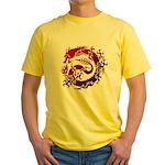 tribal dragon Yellow T-Shirt